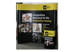 3 by 3 Curved Pop Up Stand