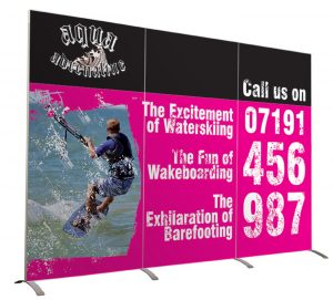 Linear Exhibition stand graphics